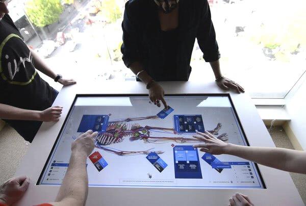 Boston Scientific interactive touch table